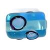 Glass Lamp Bead 13x9mm Roller Aqua